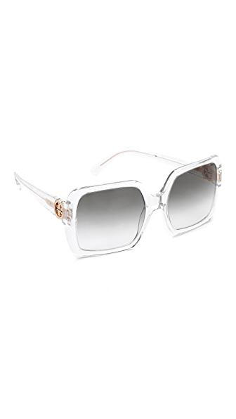 Tory Burch Translucent Oversized Sunglasses
