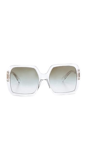 Tory Burch Translucent Oversized Sunglasses