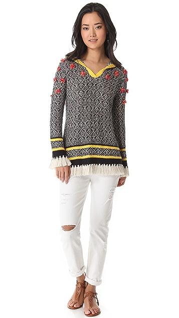 Tory Burch Gatlin Poncho Sweater