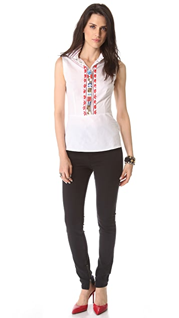 Tory Burch Rada Embellished Shirt