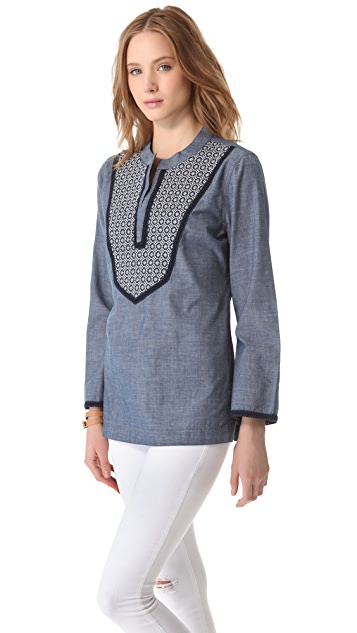 Tory Burch Embellished Tunic