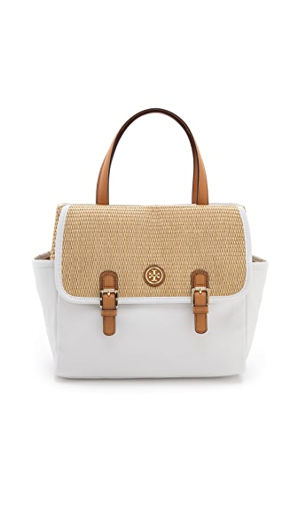 Tory Burch Pierson Straw Mini Beach Tote