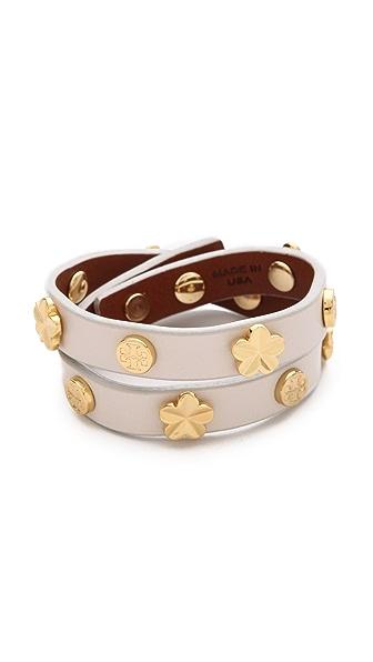 Tory Burch Flower Double Wrap Bracelet