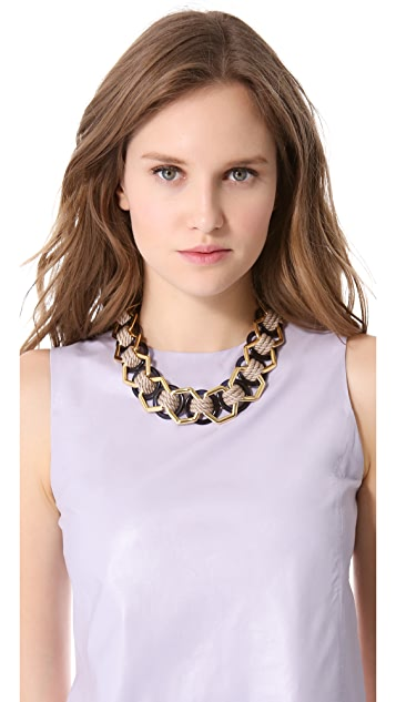 Tory Burch Pebble Ring Necklace