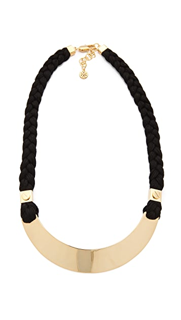 Tory Burch Screw Rivet Rope Necklace