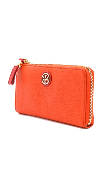 Tory Burch Clay Top Zip Continental Wallet