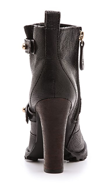 Tory Burch Landers Leather High Heel Booties