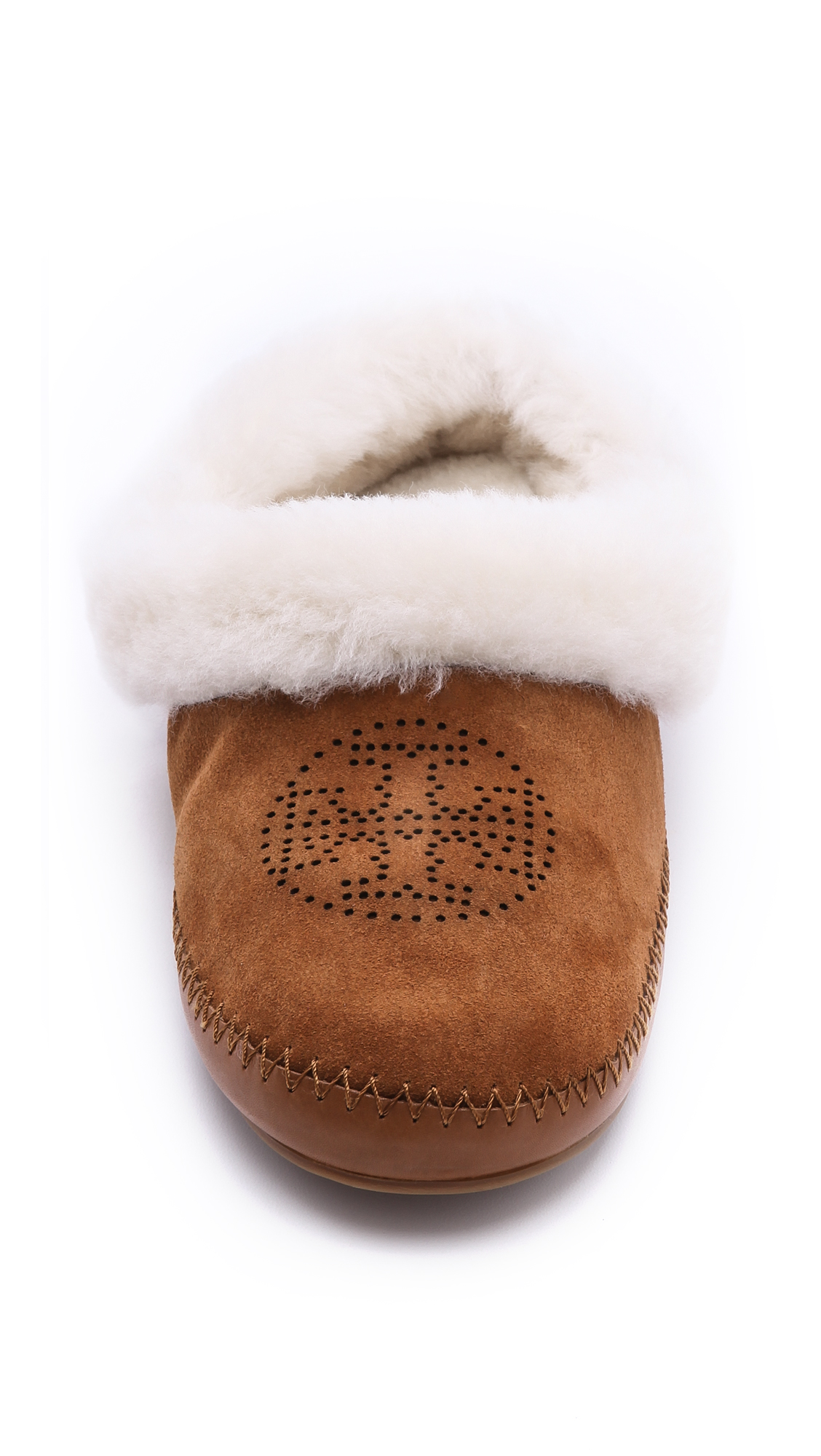 0616a598874 Tory Burch Coley Suede Shearling Lined Slippers