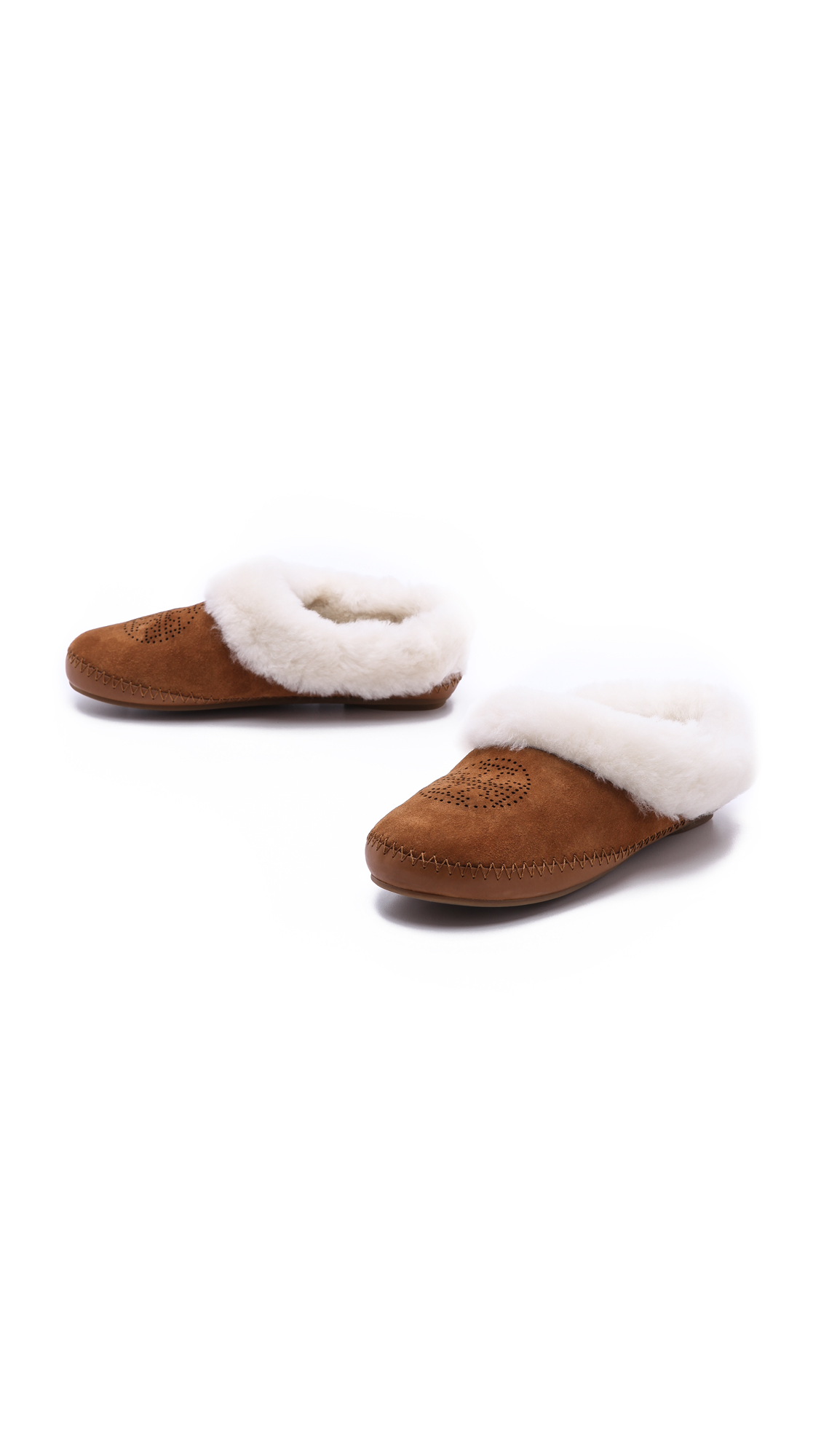 2e023cb2810b Tory Burch Coley Suede Shearling Lined Slippers