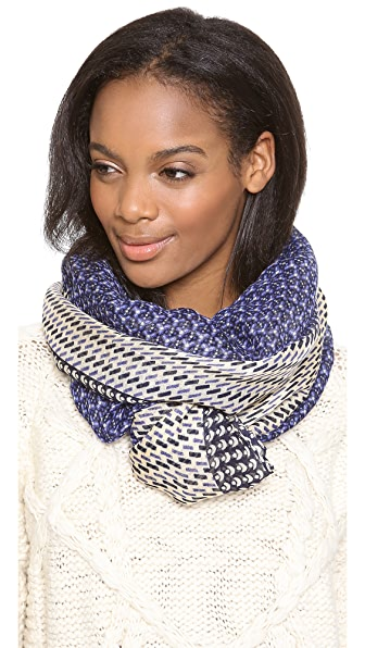 Tory Burch Moon Dot Mix Print Scarf