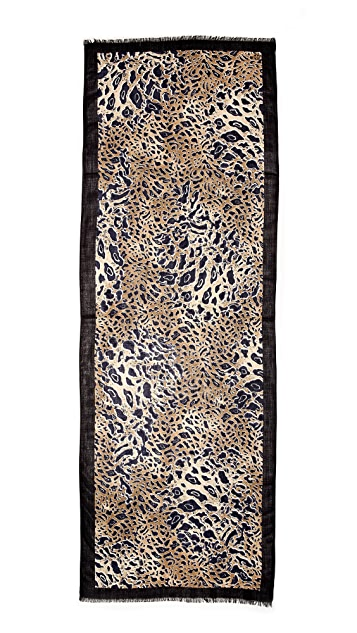 Tory Burch Abstract Leopard Scarf