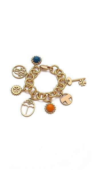 Tory Burch Winslow Multi Charm Bracelet