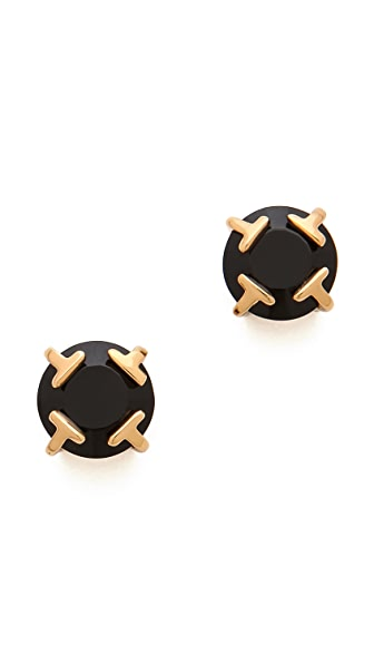 Tory Burch Modern T Stud Earrings