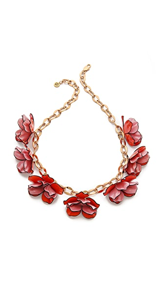 Tory Burch Pentier Multi Flower Necklace
