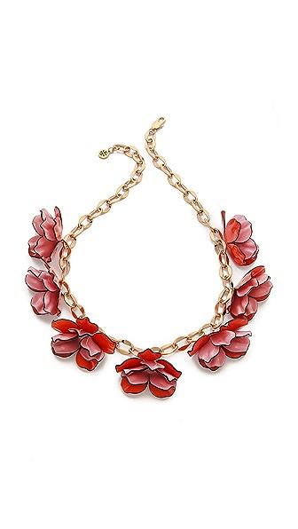 Tory Burch Pentier Multi Flower Necklace
