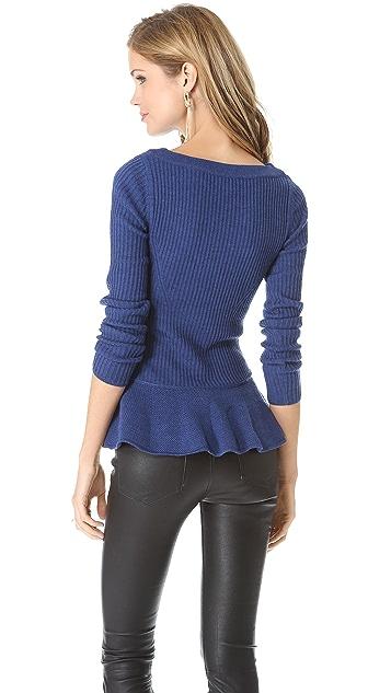 Tory Burch Ramona Peplum Sweater