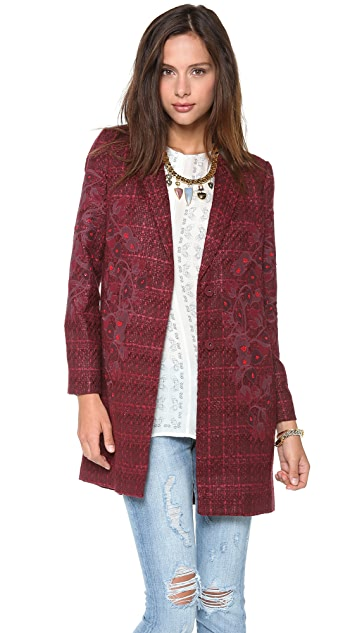 Tory Burch Patsy Tweed Coat