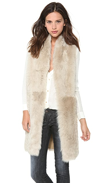 Tory Burch Dominique Reversible Shearling Vest