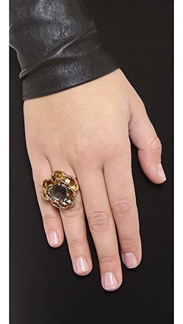 Tory Burch Crystal Rose Ring