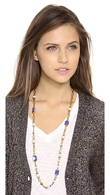 Tory Burch Delphine Rosary Necklace