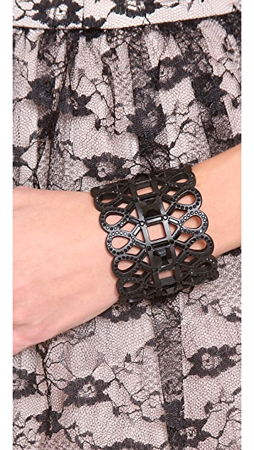 Tory Burch Embellished Lace Cuff Bracelet