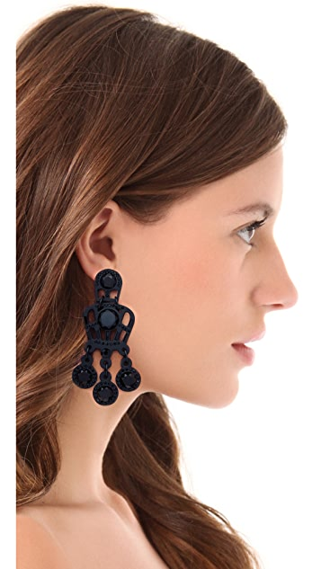 Tory Burch Embellished Lace Drop Earrings