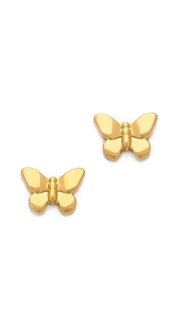 Tory Burch Sylbie Simple Butterfly Stud Earrings