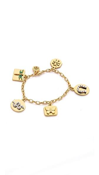 Tory Burch Sylbie Multi Charm Bracelet