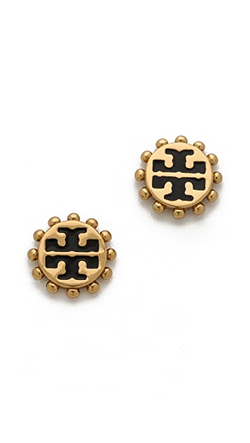 Tory Burch Winslow Logo Post Earrings