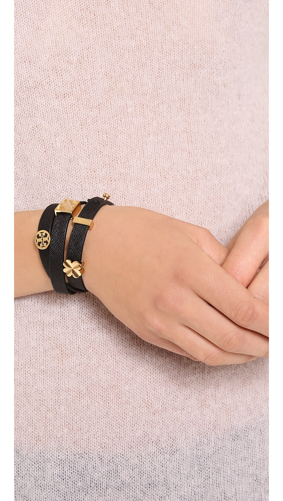 triple rodrigani cyrus black yohan wrap leather bracelet products
