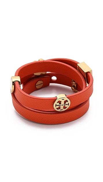 Tory Burch Slide Charm Triple Wrap Bracelet