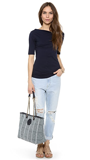 Tory Burch Marion Patchwork EW Tote