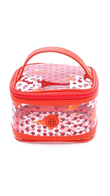 Tory Burch Lizzie Printed Mini Train Case