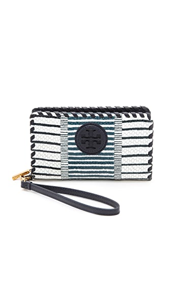 Tory Burch Marion Patchwork Smartphone Wristlet