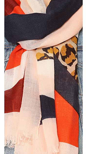 Tory Burch Animal Print Block Reva Scarf