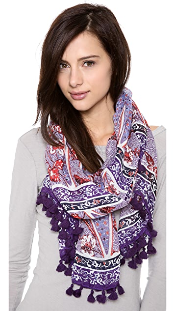 Tory Burch Olea Floral Mix Scarf