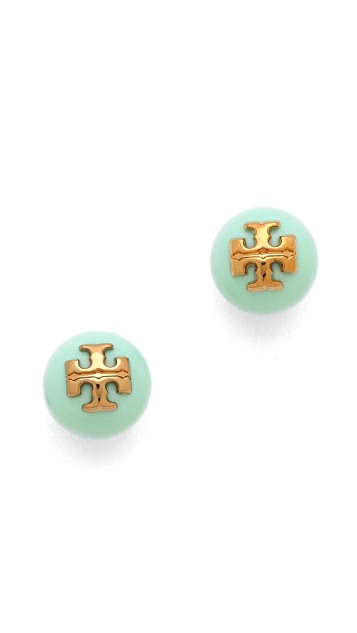 Tory Burch Colored Evie Stud Earrings