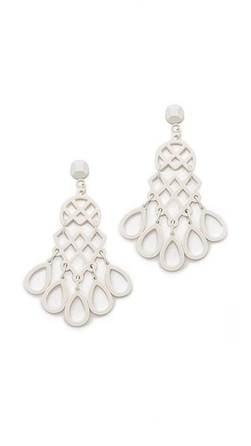 Tory Burch Lace Chandelier Earrings