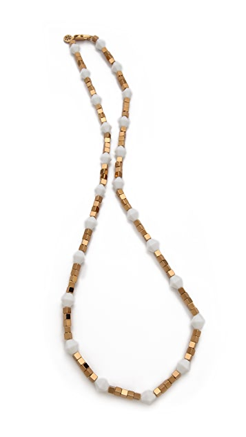 Tory Burch Single Strand Cube Necklace