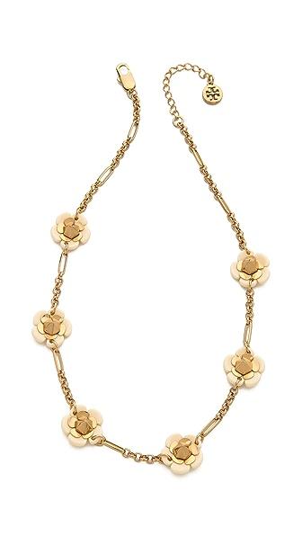 Tory Burch Flower Spike Short Necklace