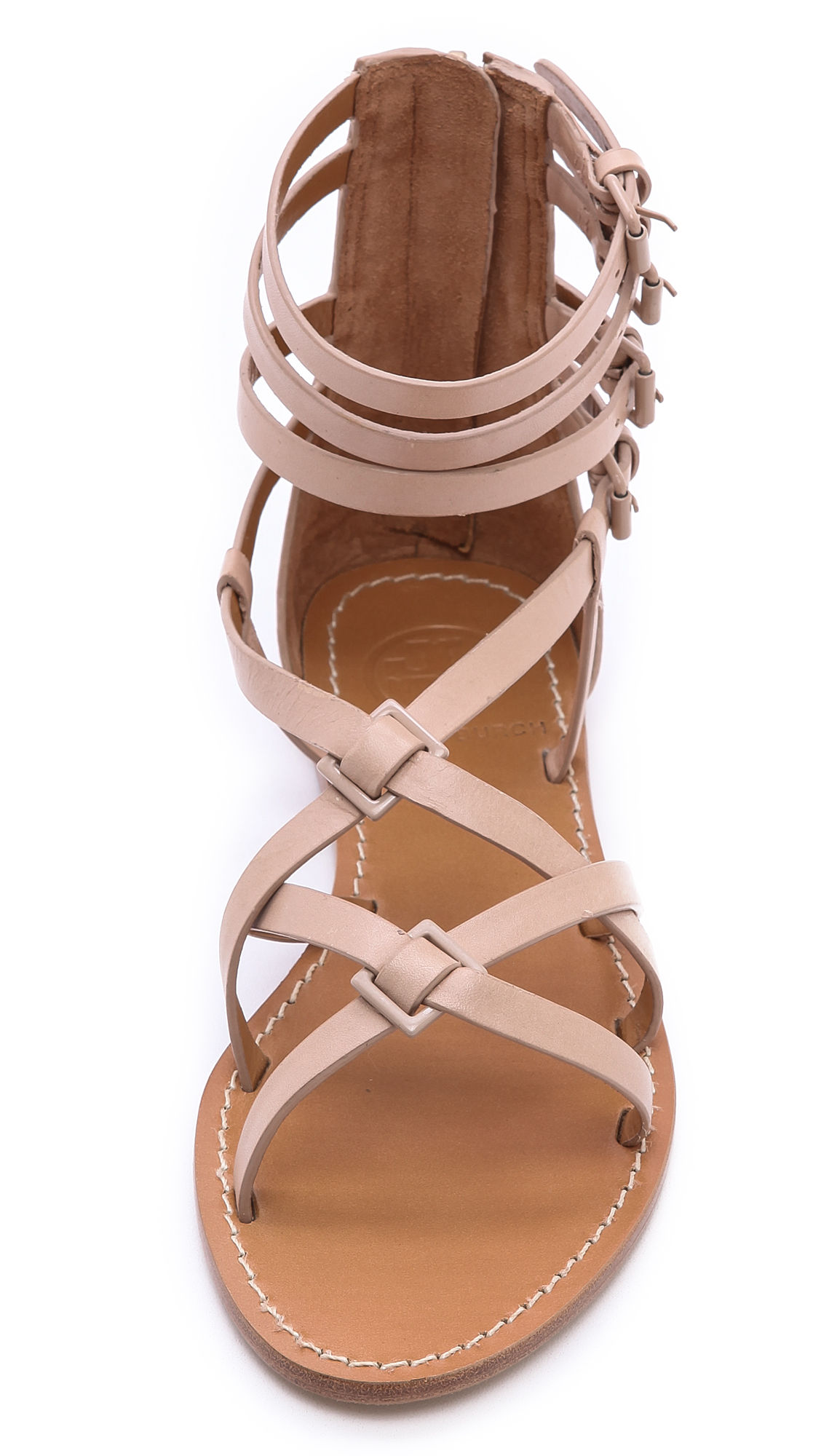 63709ffa70bb56 Tory Burch Lucas Flat Sandals