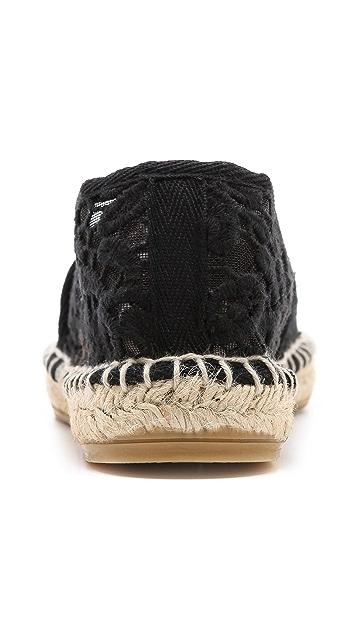 Tory Burch Abbe Crochet Espadrilles