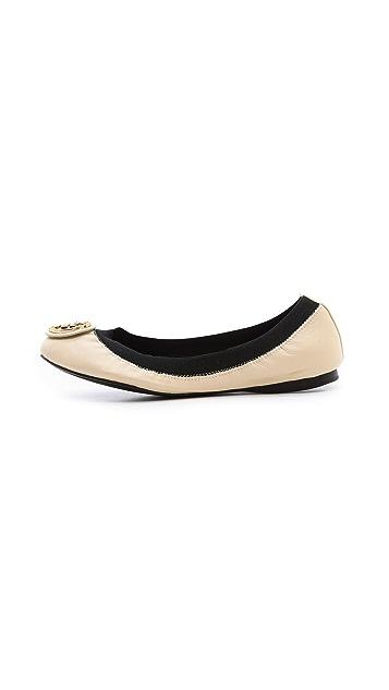 Tory Burch Caroline 2 Elastic Ballet Flats