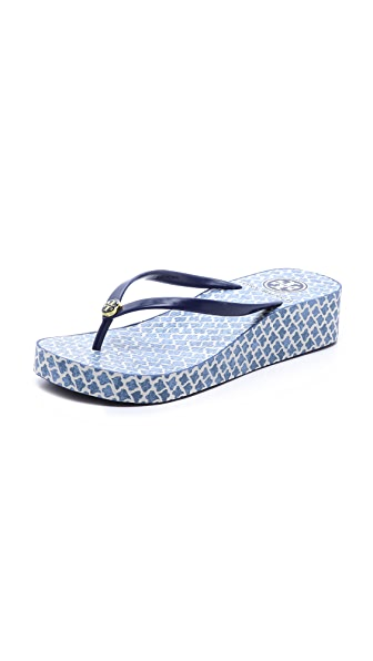 Tory Burch Thandie Wedge Flip Flops