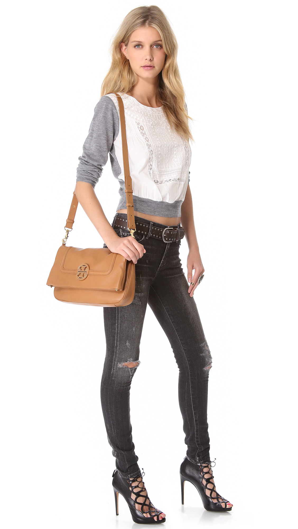 37e72fdc551cd Tory Burch Amanda Fold Over Messenger Bag