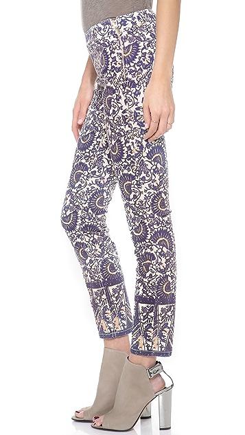 Tory Burch Izzy Flat Front Skinny Jeans