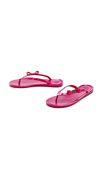 Tory Burch Michaela Bow Jelly Flip Flops