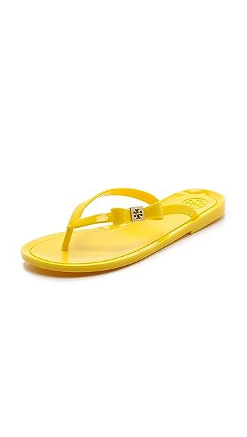 Tory Burch Michaela Bow Jelly Flip Flops