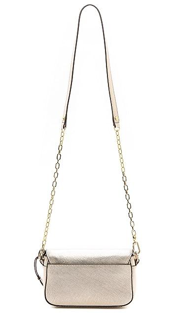 Tory Burch Robinson Metallic Adjustable Chain Mini Bag