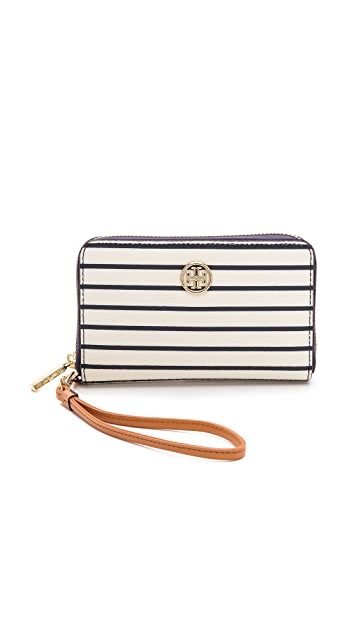 Tory Burch Robinson Printed Smart Phone Wristlet
